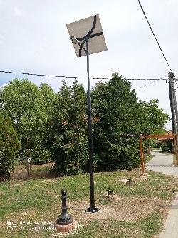 Gyugy 5 méteres napelemes térvilágítás