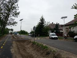 UNK-MONO-16W-2013 napelemes kandeláberek biztosítják a közvilágítást a