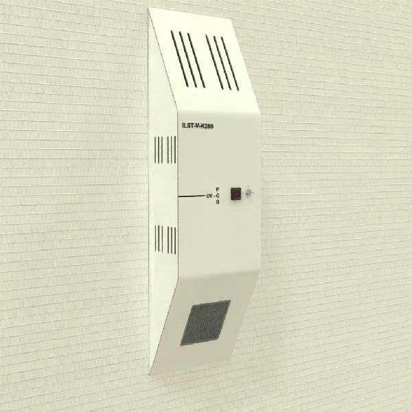 UV-C LED falra szerelhető beltéri légfertőtlenítő  berendezés