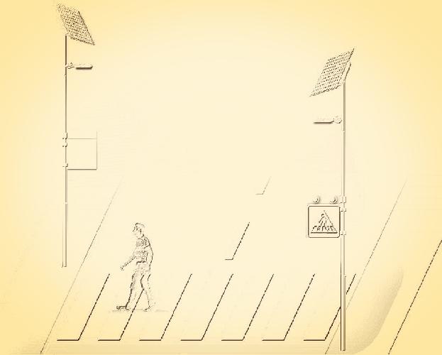 Napelemes okos gyalogátkelőhely
