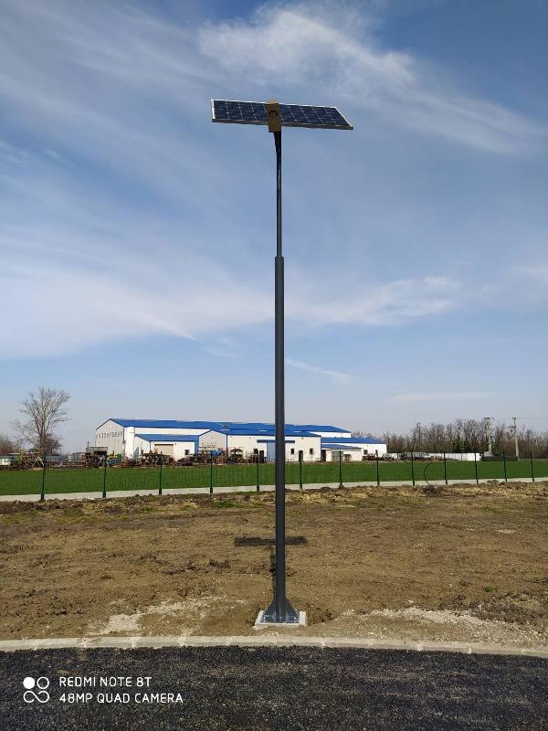 Jászkiséri ipari park napelemes térvilágítás