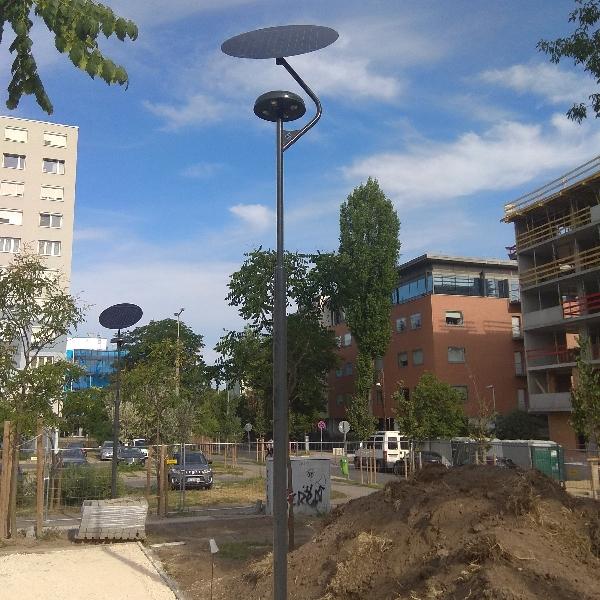 Budapest 1. kerület, napelemes térvilágítás