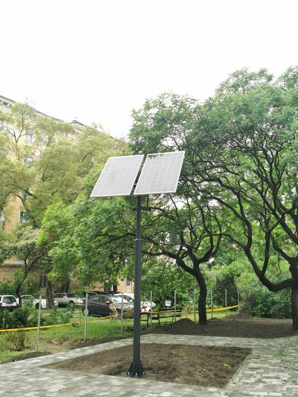 Budapest IV kerület Napelemes kamerarendszer és FNS Led világítás