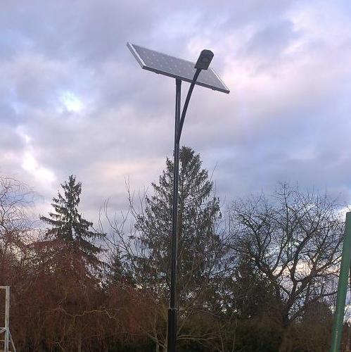 Alibánfa, napelemes térvilágítás
