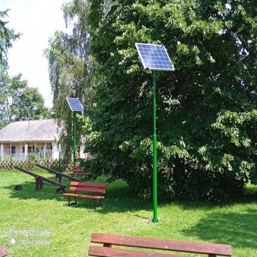 Szabolcs, napelemes kandeláberek