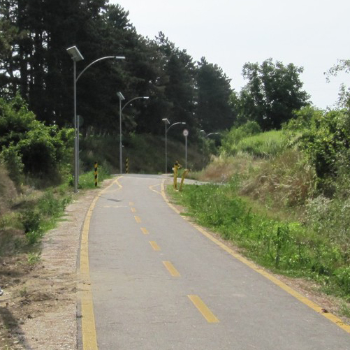 Zala-völgyi kerékpárút, Napelemes kerékpárút világítás