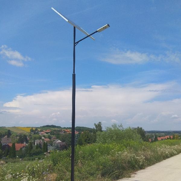 Teskánd, napelemes közvilágítás