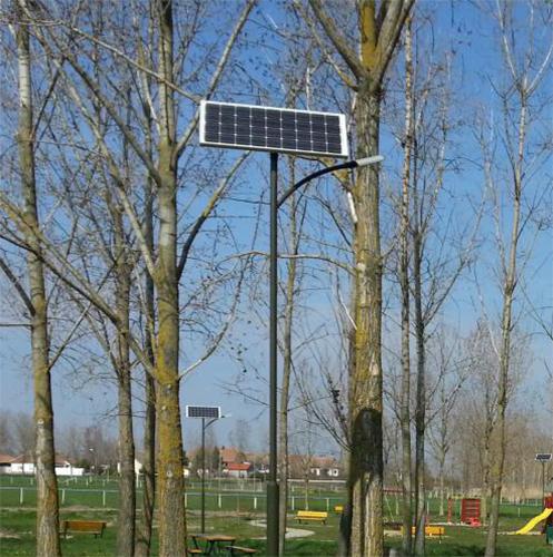 Bácsbokod szabadidő park, napelemes kandeláber