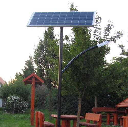 Bodorfa térvilágítás, napelemes kandeláber