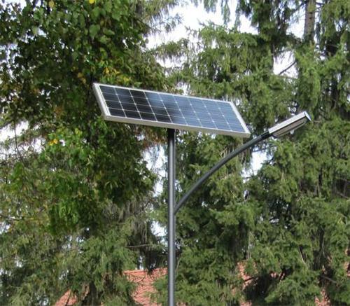 Csombárd, napelemes térvilágítás