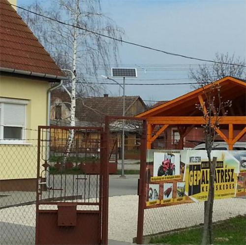 Jánoshalma, ZAP Hungary Kft., napelemes kandeláber