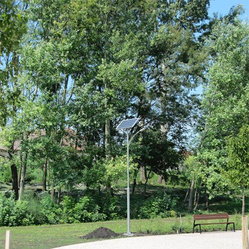 Nagylók park, napelemes térvilágítás