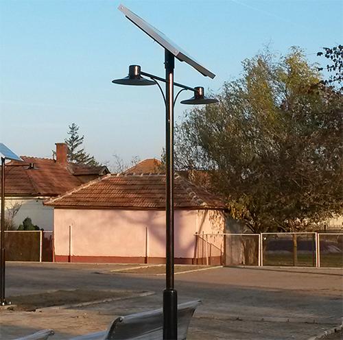 Tömörkény, napelemes térvilágítás