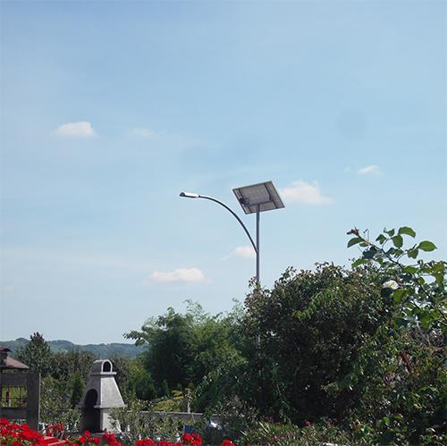 Zalaszentiván, családi ház, napelemes térvilágítás