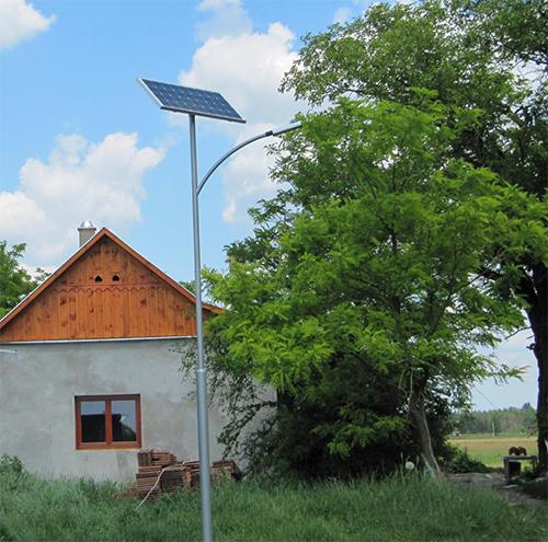 Csólyospálos, napelemes térvilágítás