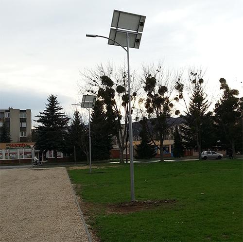 Kőszeg, napelemes térvilágítás