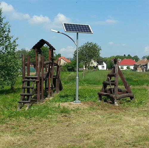 Tornyiszentmiklós, játszótér napelemes világítás