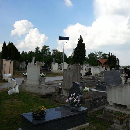 Zalaszentiván, temető, napelemes térvilágítás