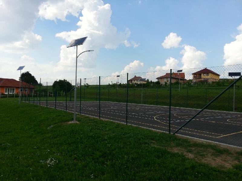 Zalaszentiván, sportpálya, napelemes térvilágítás