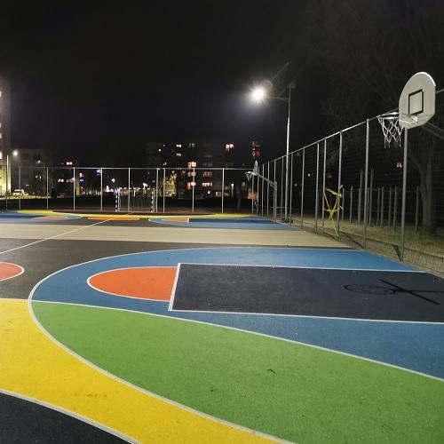 Kiskunfélegyháza Zöld város program, Napelemes sportpálya világítás