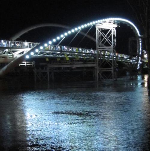 Szolnok, Tiszavirág-Híd, LEDes fényforrások