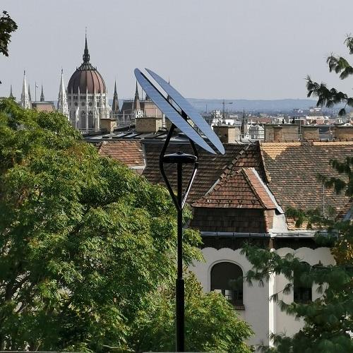 Budapest 1. kerület, Szaffi játszótér, napelemes térvilágítás