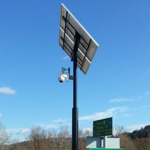 Tamási, Termál-hid, napelemes biztonsági kamera