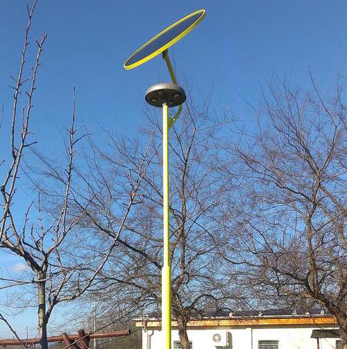 Fót, Élhető Jövő park, napelemes térvilágítás