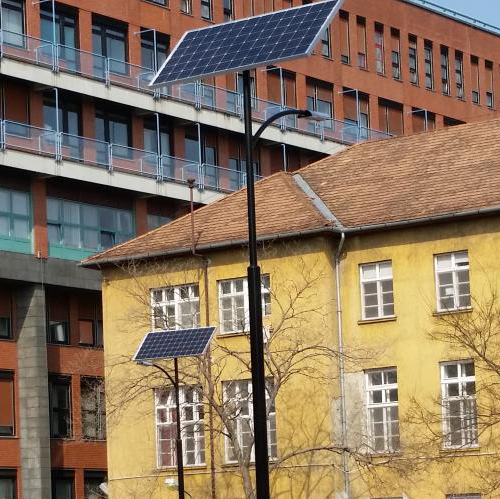 Budapest, Honvédkórház, parkoló világítás